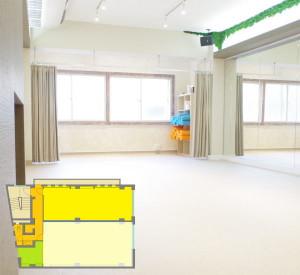 練馬レンタルスタジオ Sスタジオ図面です