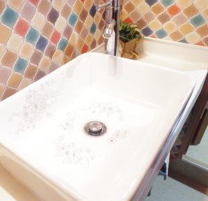 練馬 レンタルスタジオ の洗面台はおしゃれで可愛いです。