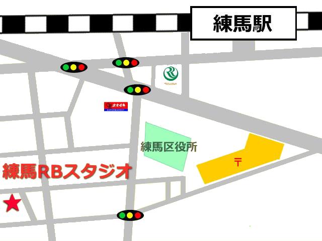 東京都練馬区にあるレンタルスタジオ 練馬BRの地図