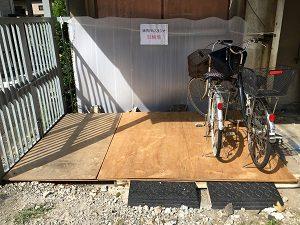 自転車 で通える 練馬 レンタルスタジオ 駐輪場の場所
