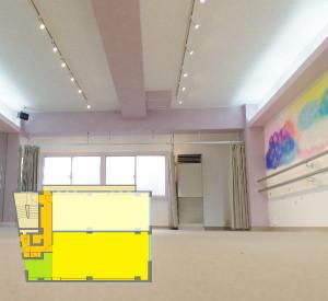 練馬レンタルスタジオ Lスタジオ図面です。
