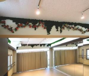 ダンススタジオ 練馬 RB Shine は 蔦の装飾で緑化効果。